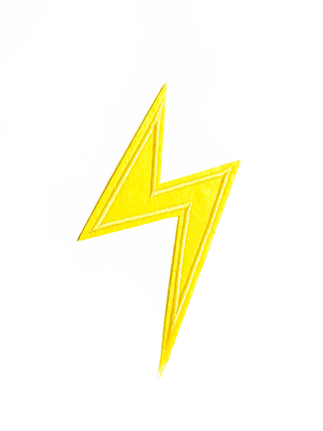 Large Laser Lightening Yellow Iron On Patch