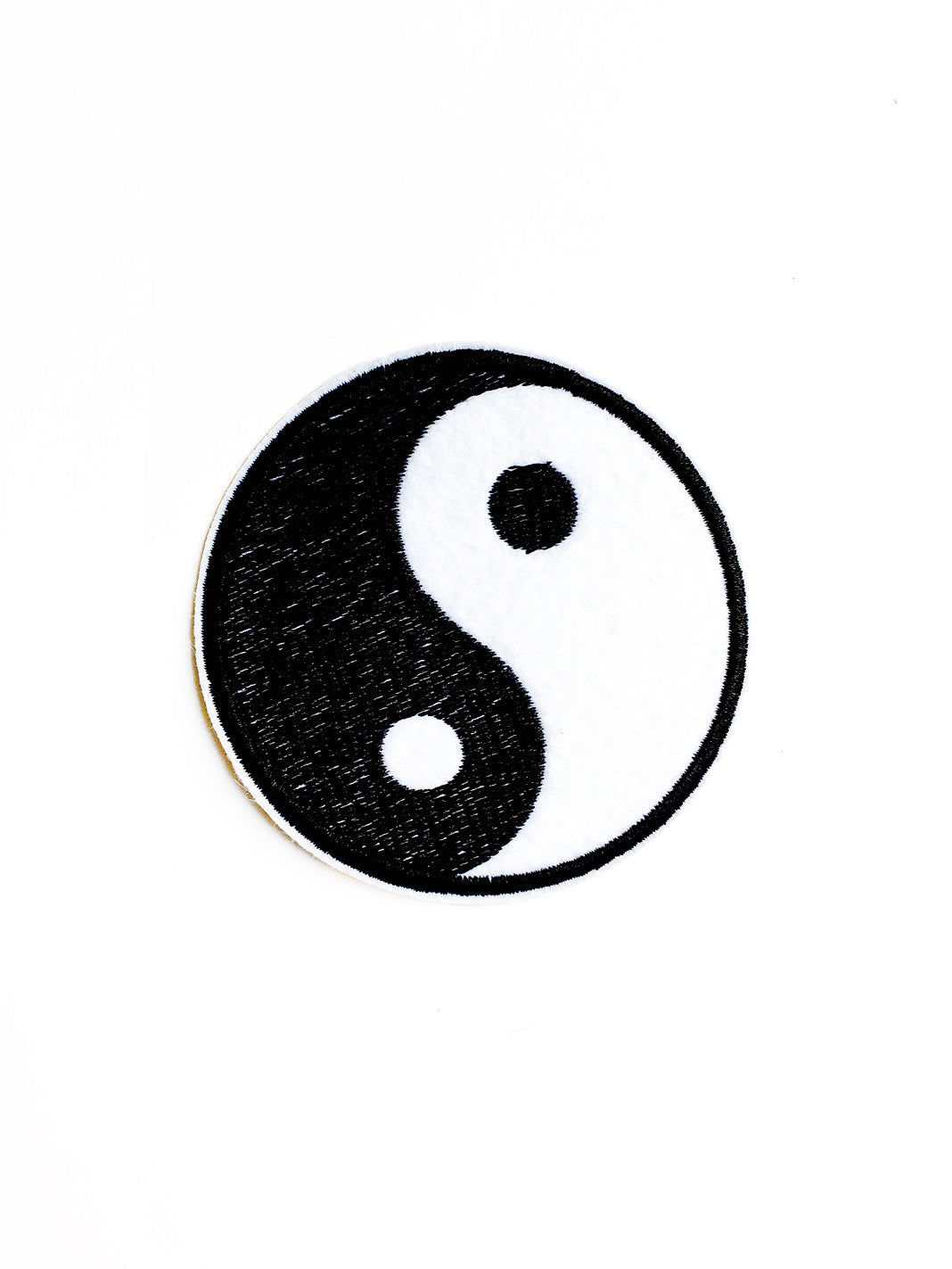 Large Ying Yang Iron On Patch