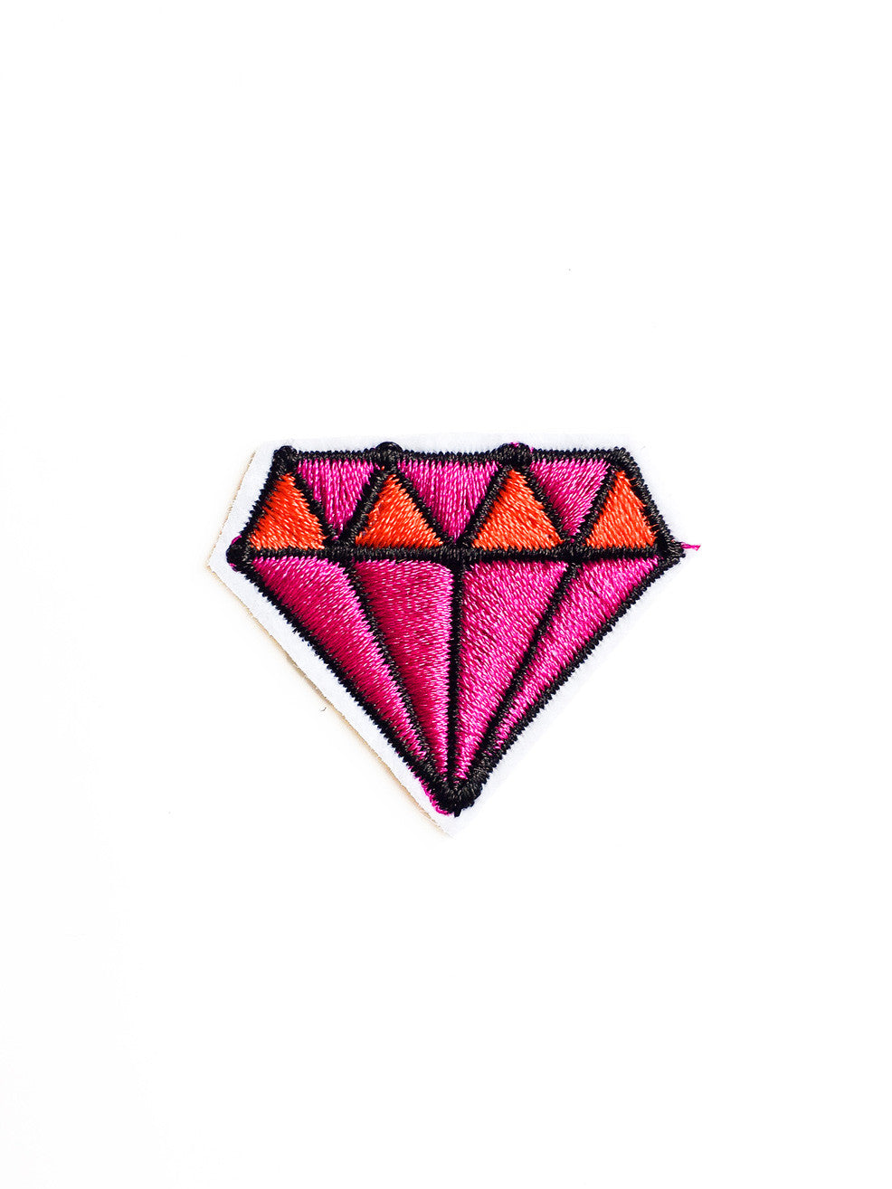 Mini Red and Pink Diamond Iron On Patch