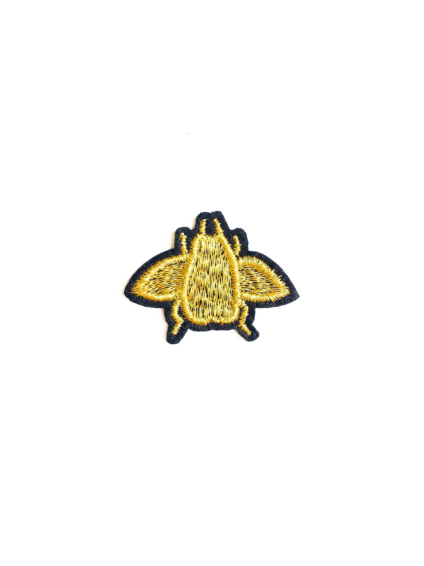 Mini Gold Bee Iron on Patch