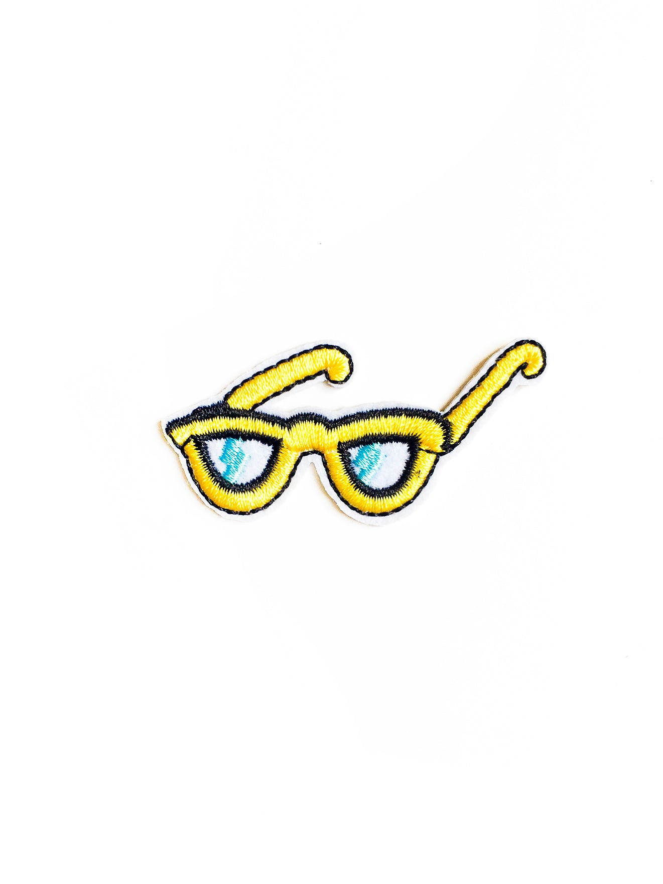 Mini Yellow Sunglasses Iron on Patch