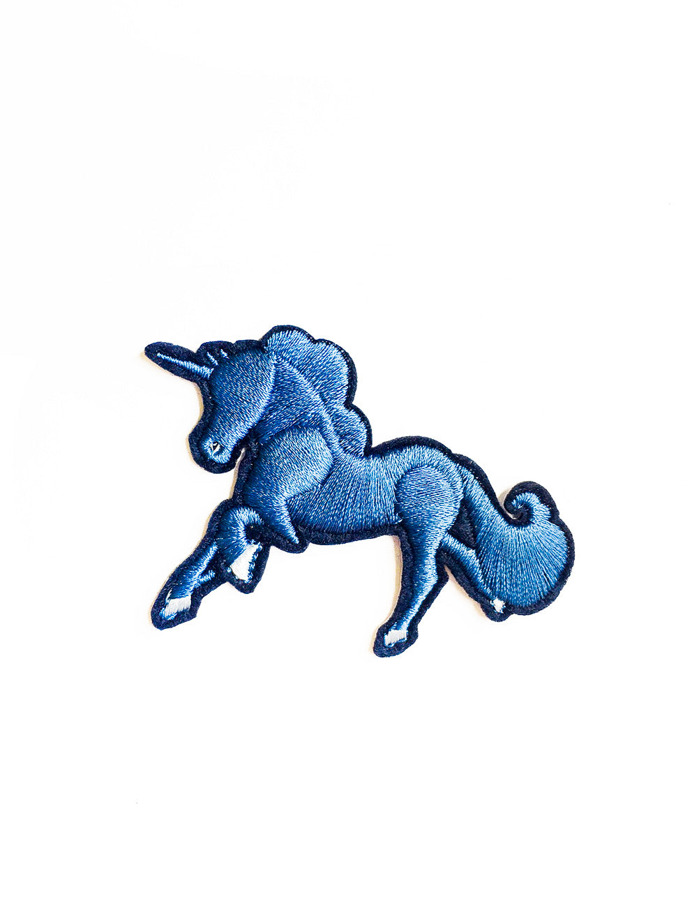 Blue Unicorn Iron On Patch