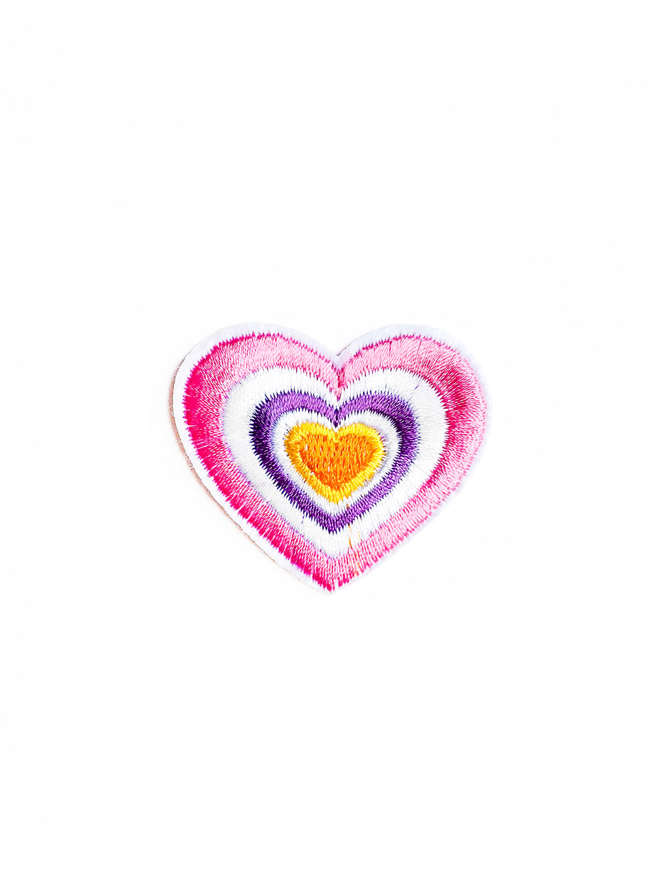 Pastel Heart Iron On Patch