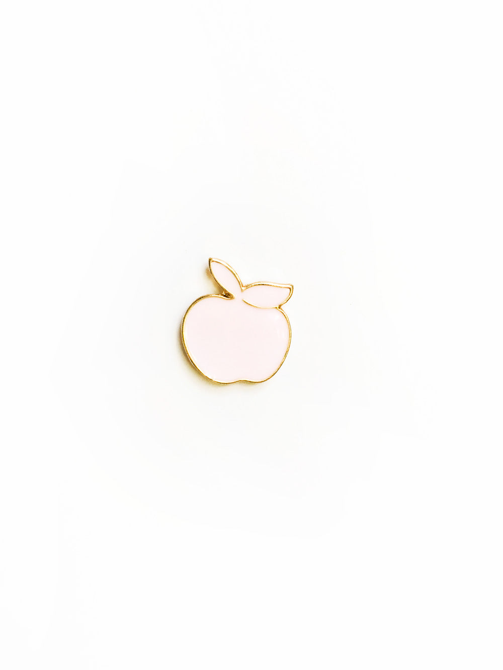 Pastel Pink Apple Enamel Pin