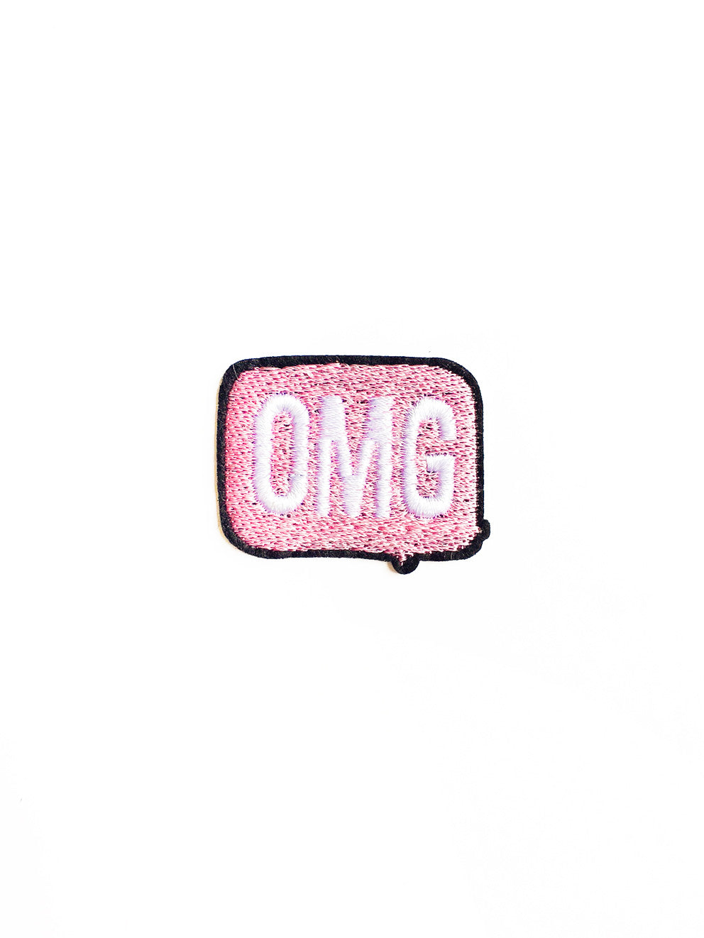 Mini Pastel Pink OMG Iron on Patch