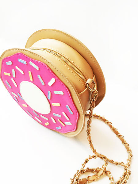 Hot Pink Donut Purse