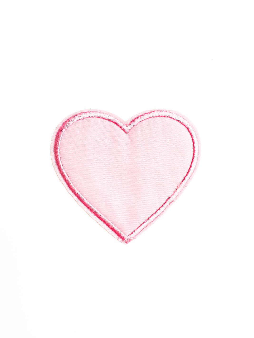 Large Pastel Pink Fabric Heart Iron On patch
