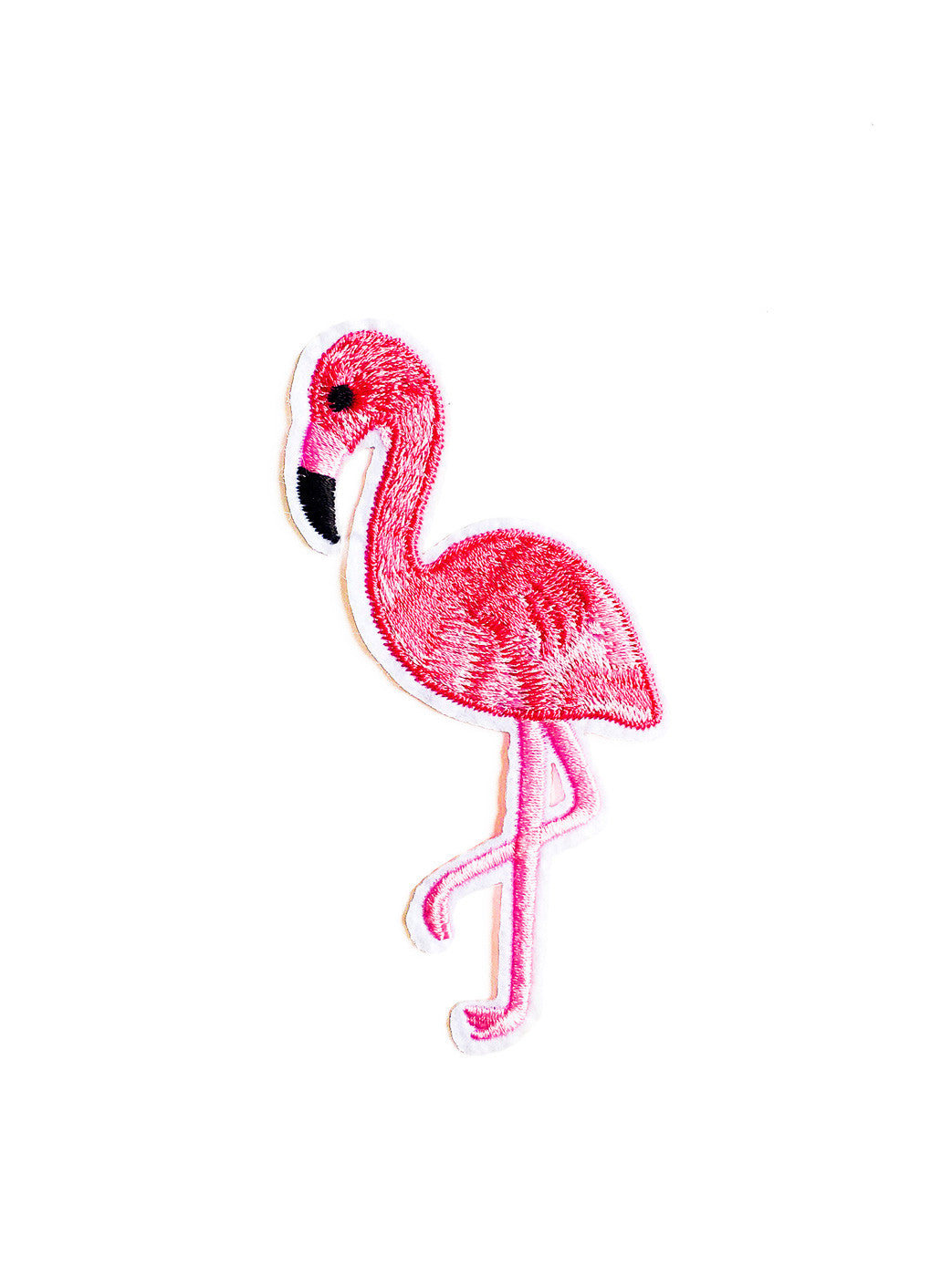Pink Flamingo Iron On Patch