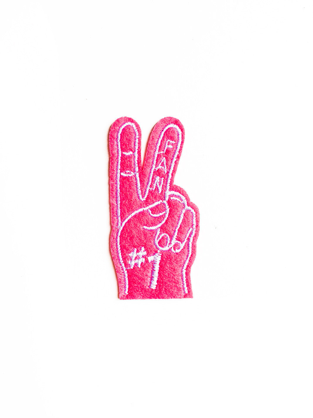 Hot Pink Number One Fan Iron On Patch