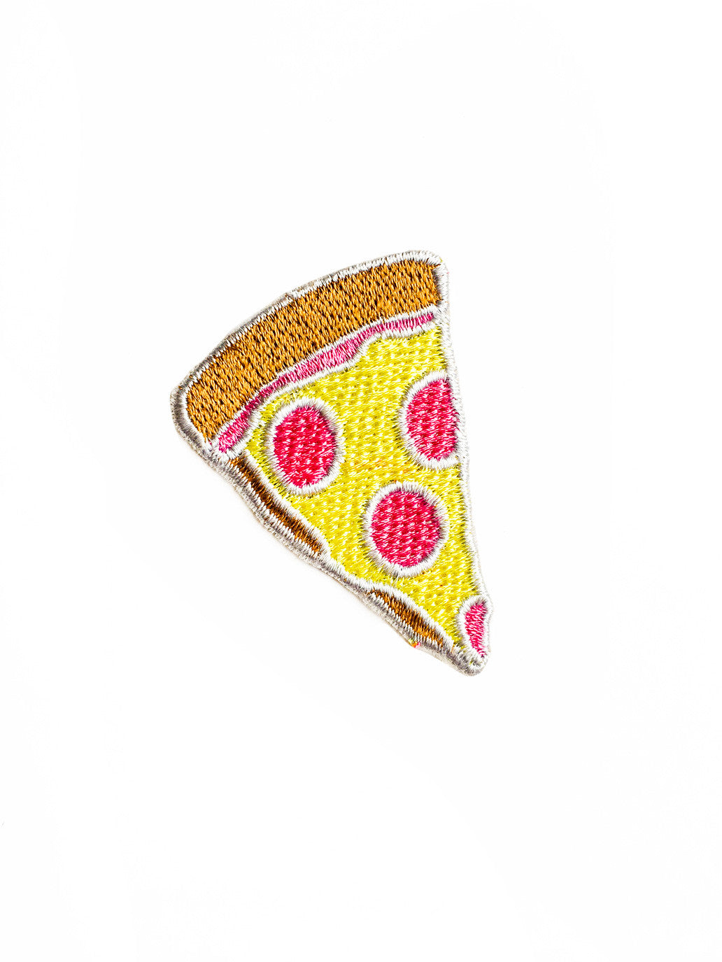 Pink Pepperoni Pizza Iron On Patch