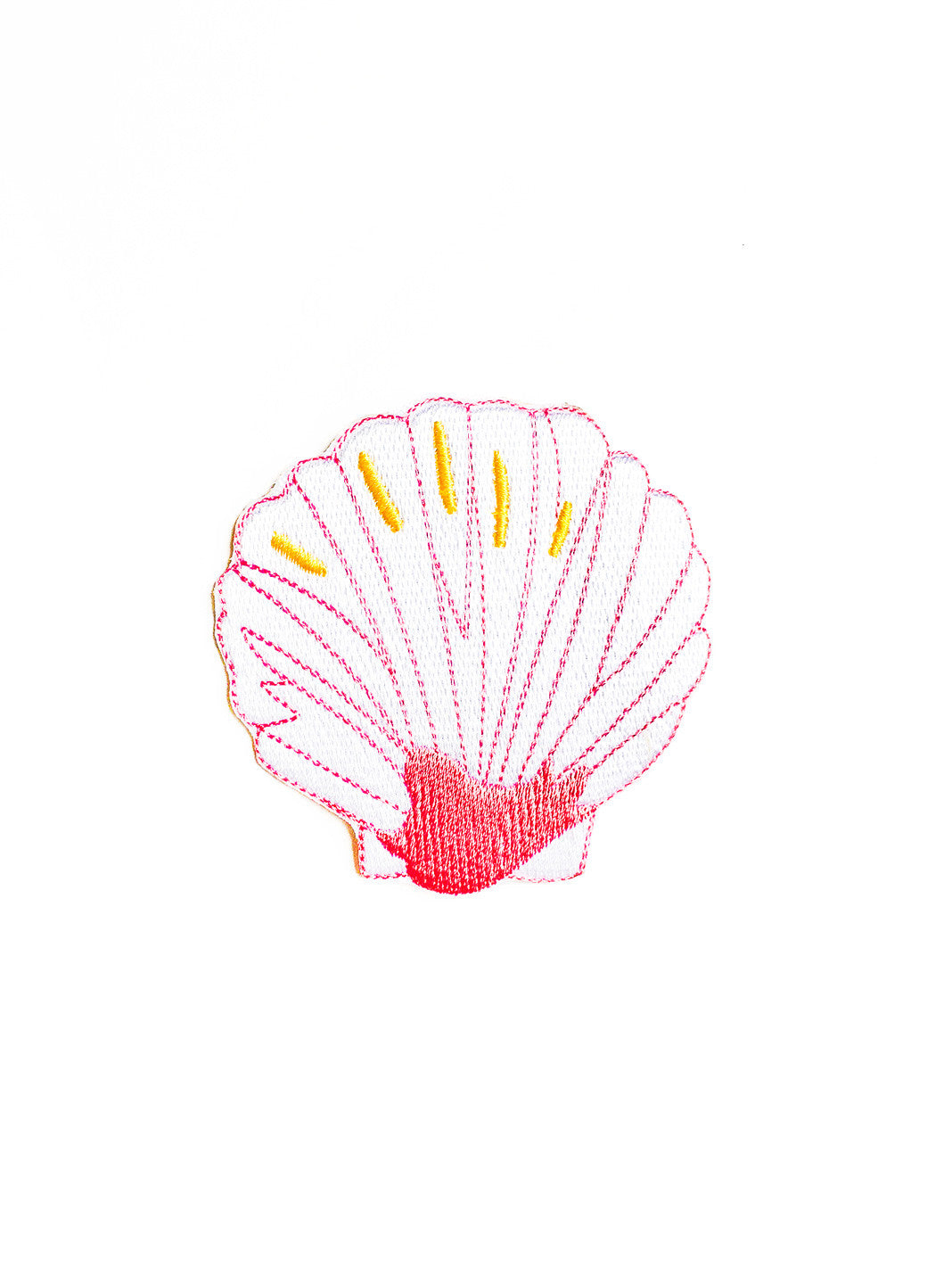 Pink Sea Shell Iron On Patch