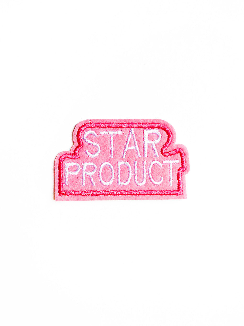 Pink Star Product Iron On Patch