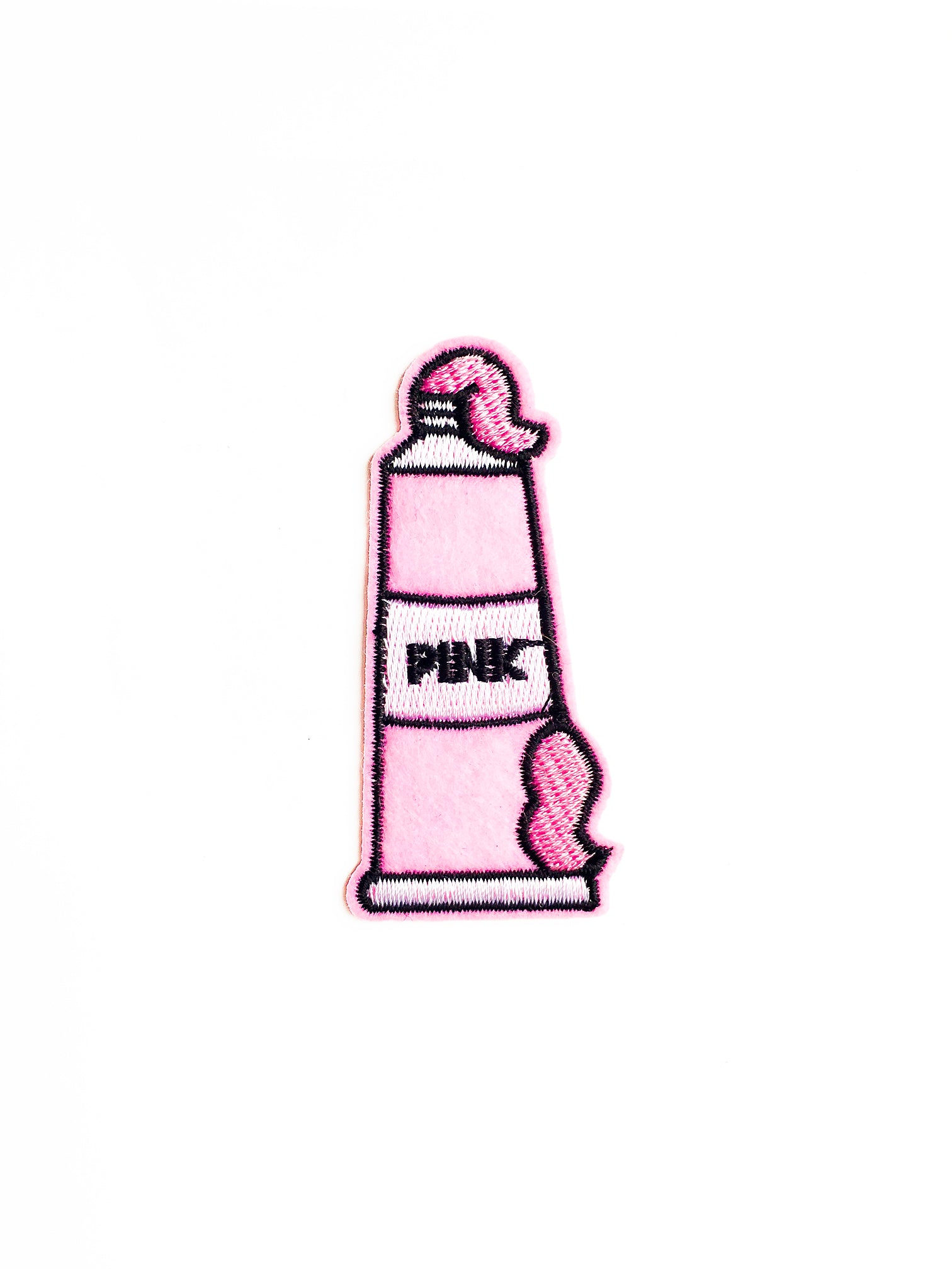 Pink Paint Iron on Patch