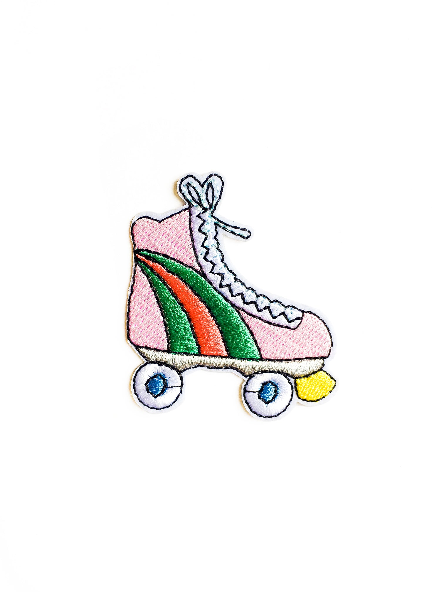 Pink Roller Skate Iron on Patch