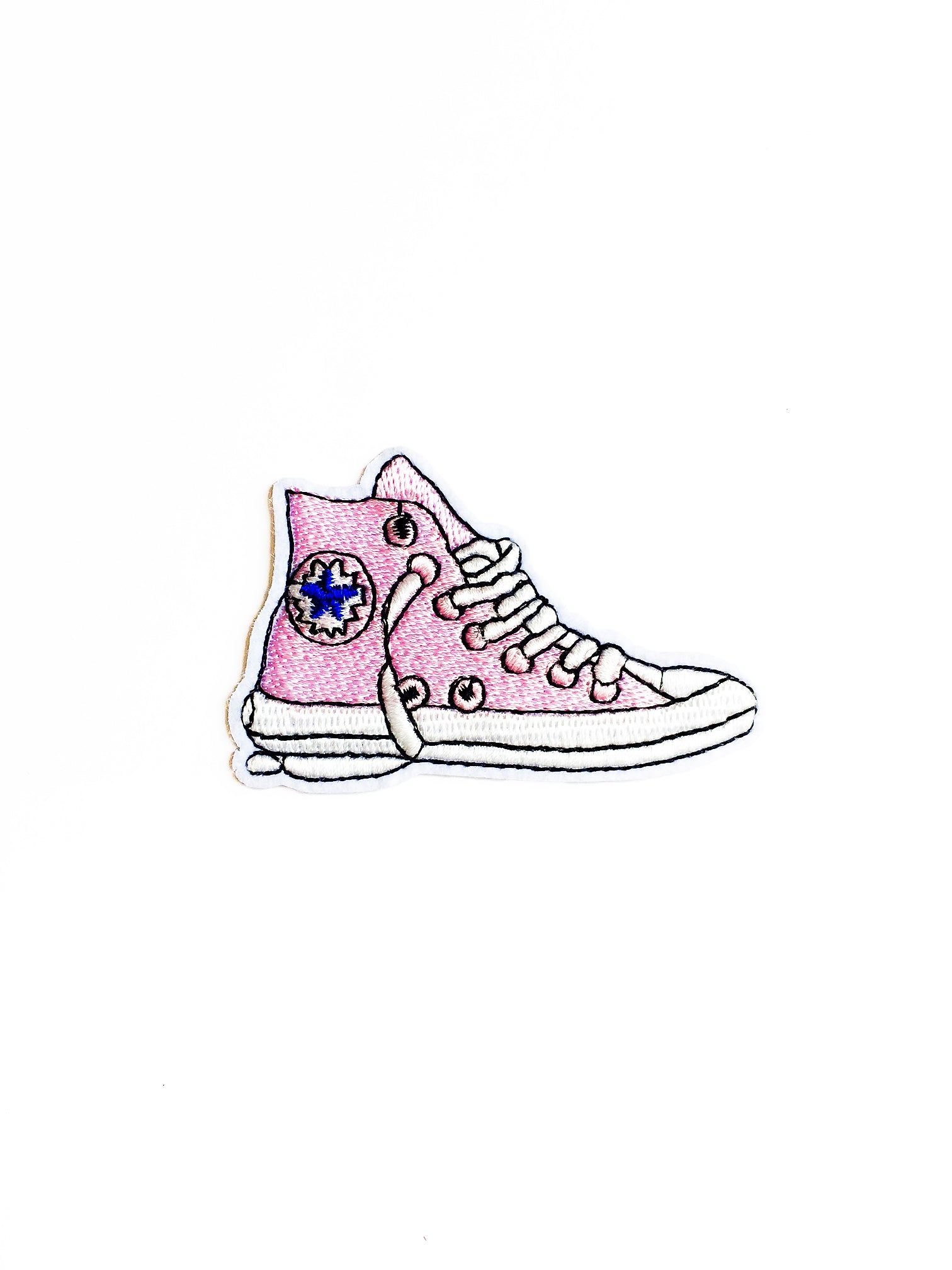 Pink Shoe Iron on Patch