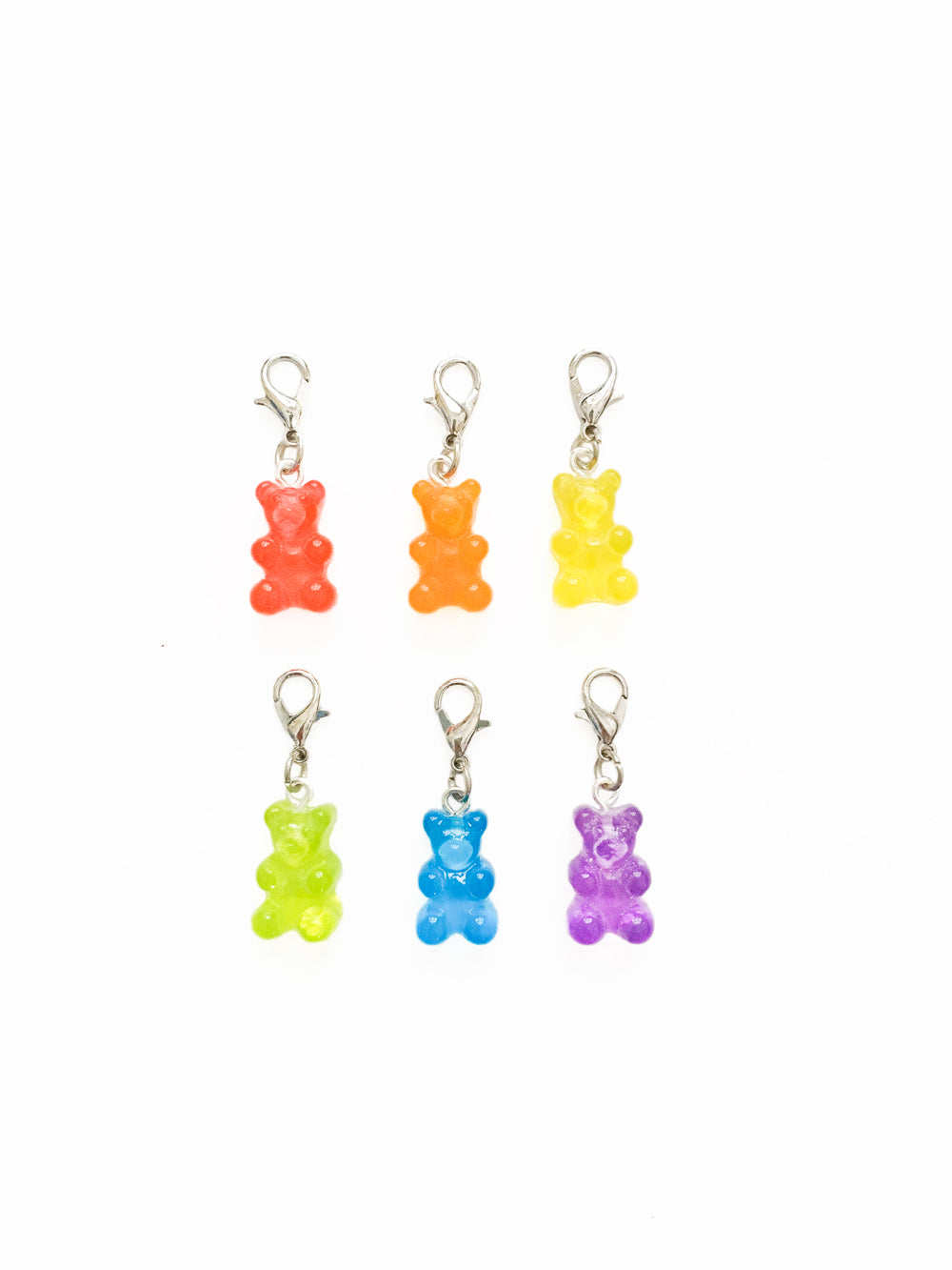 Rainbow Gummy Bear Zipper Pull Gift Set