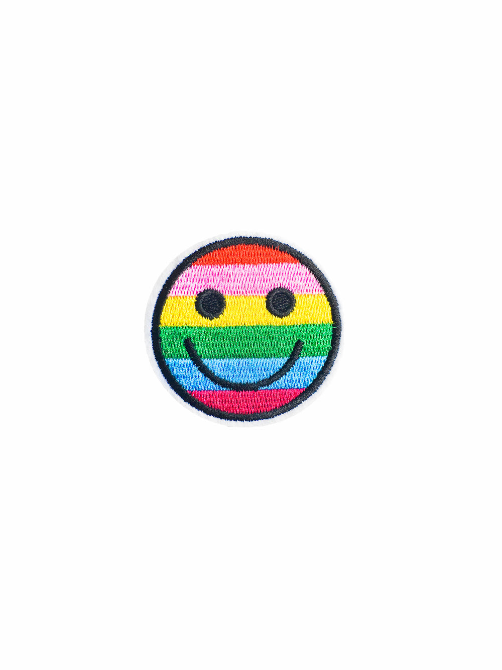 Rainbow Smiley Face Iron on Patch