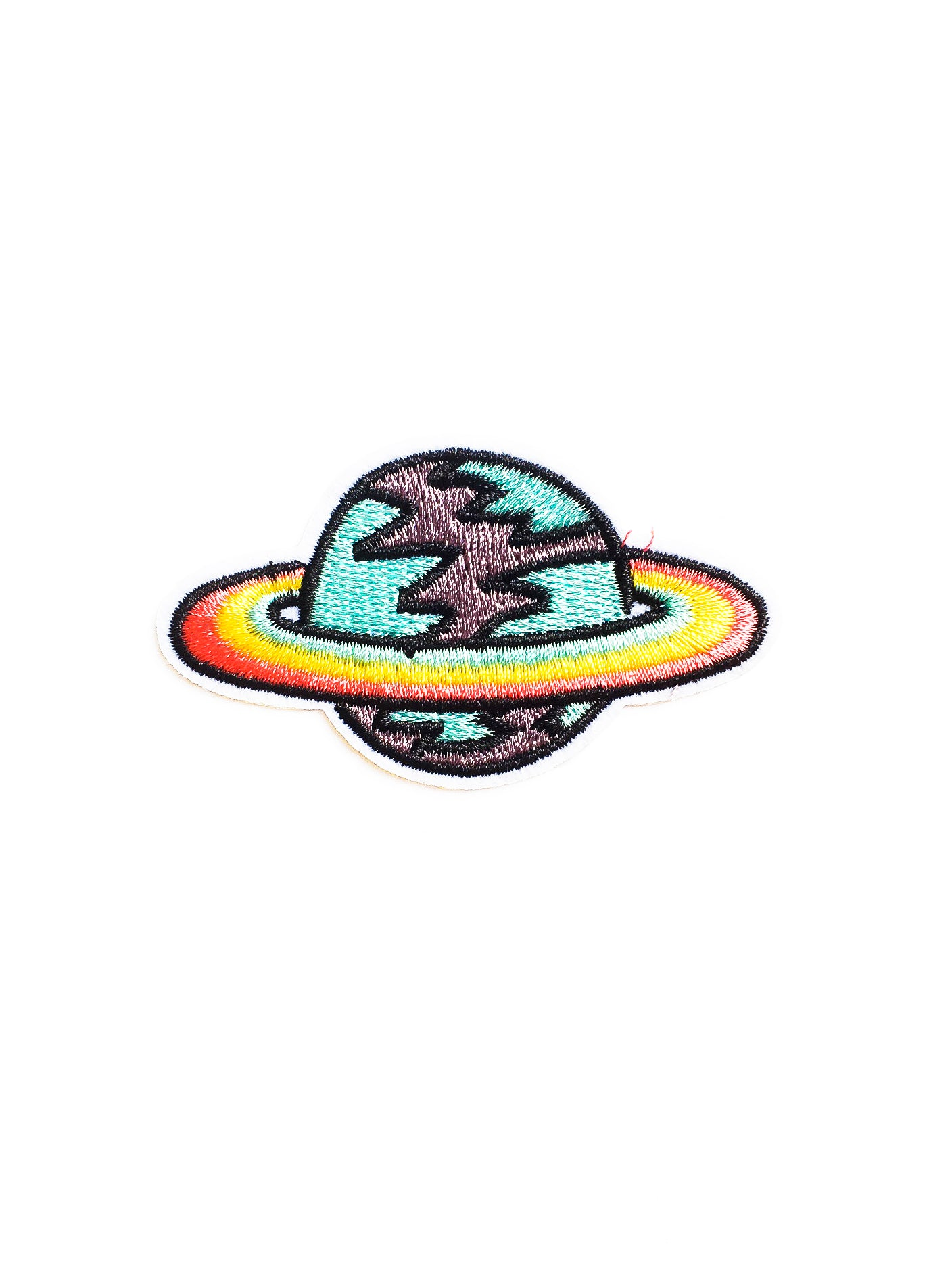 Rainbow Saturn Iron on Patch