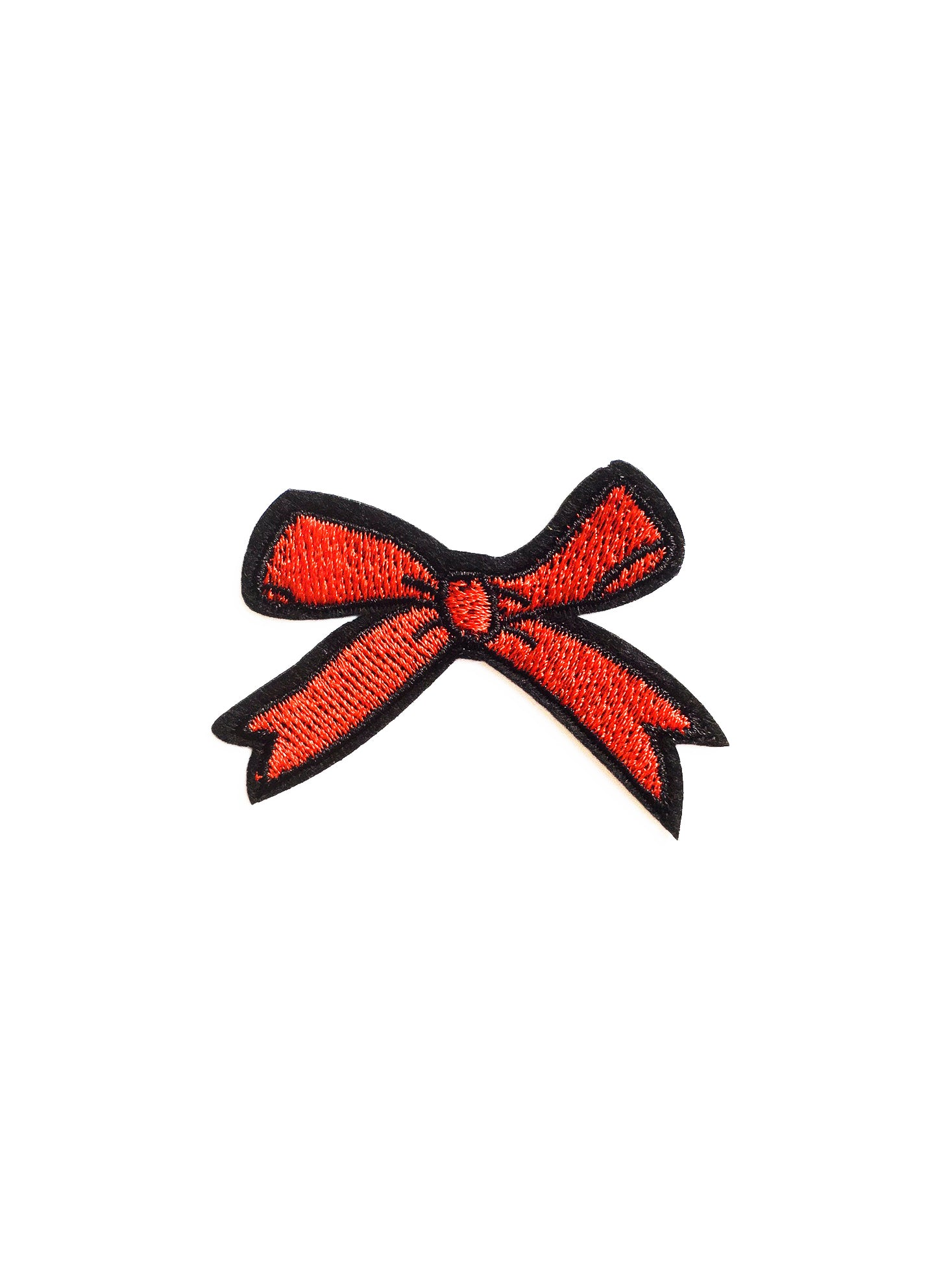 Red Bow Iron on Patch