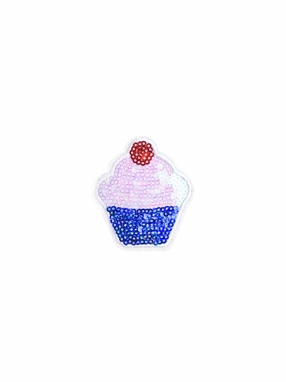 Sequin Cupcake Iron on Patch