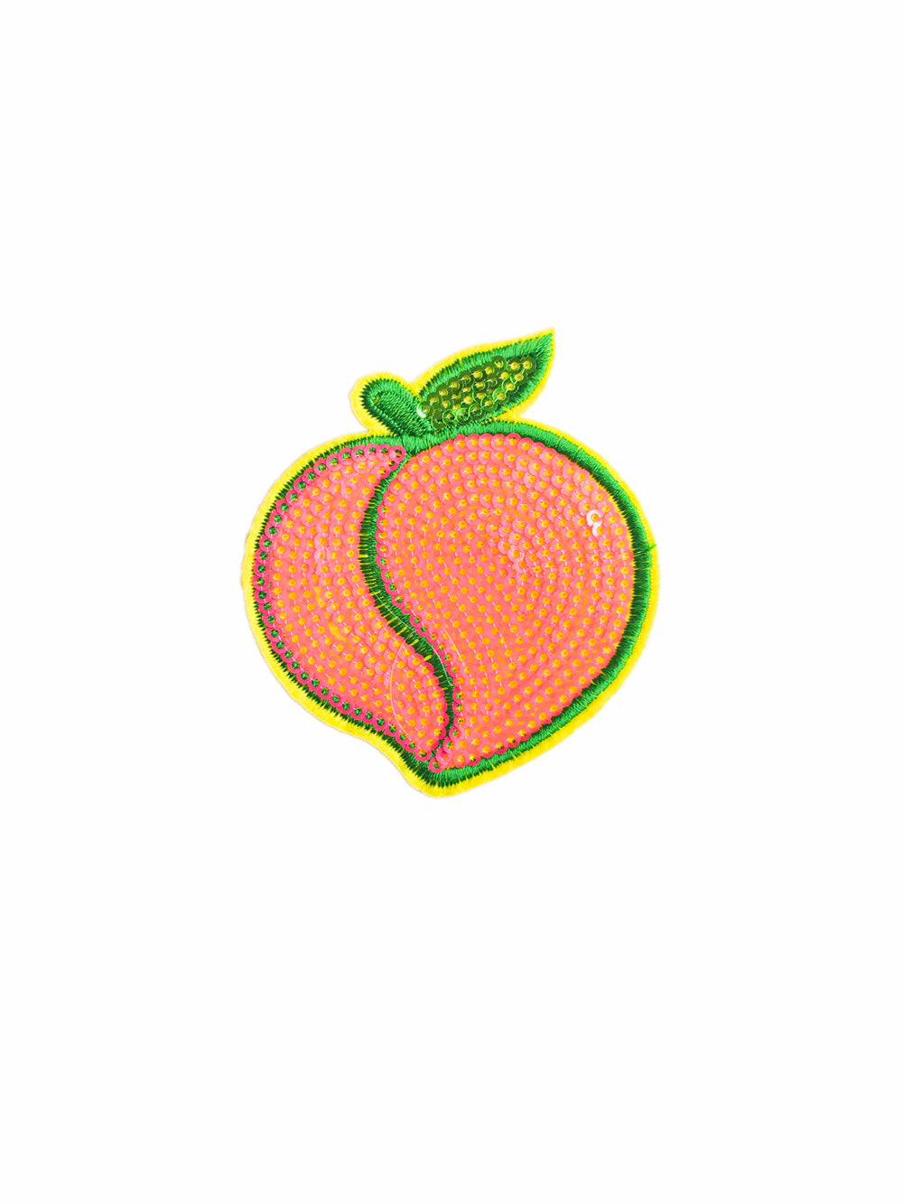 Sequin Peach Iron on Patch