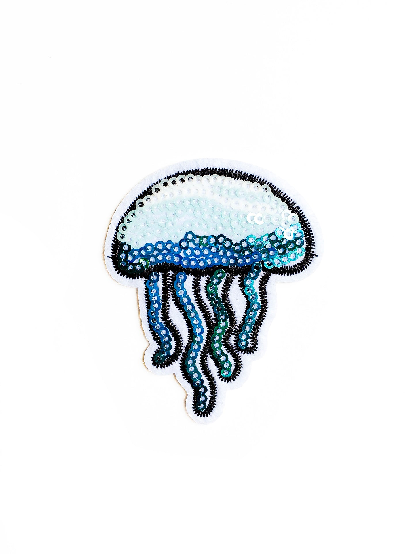 Sequin Jelly Fish Iron on Patch