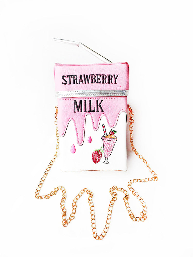 Strawberry Milk Purse