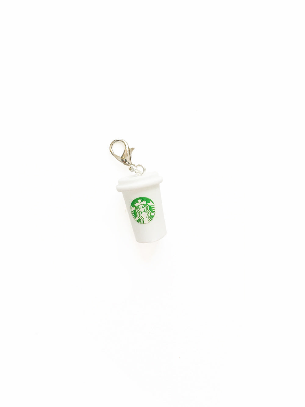 Black Starbucks Cup Zipper Pull Charm