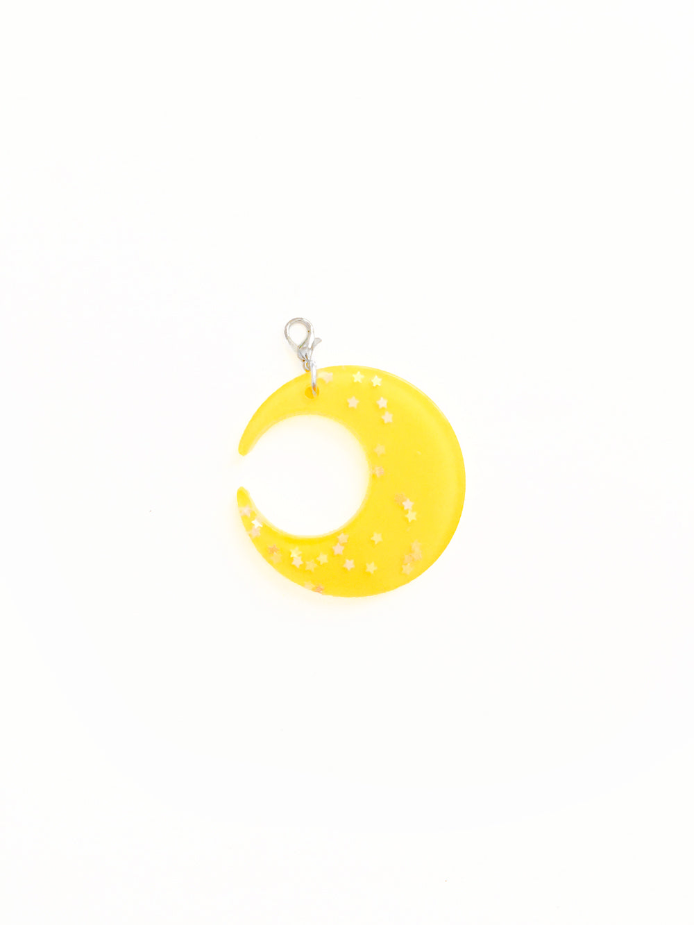 Yellow Moon Zipper Pull Charm