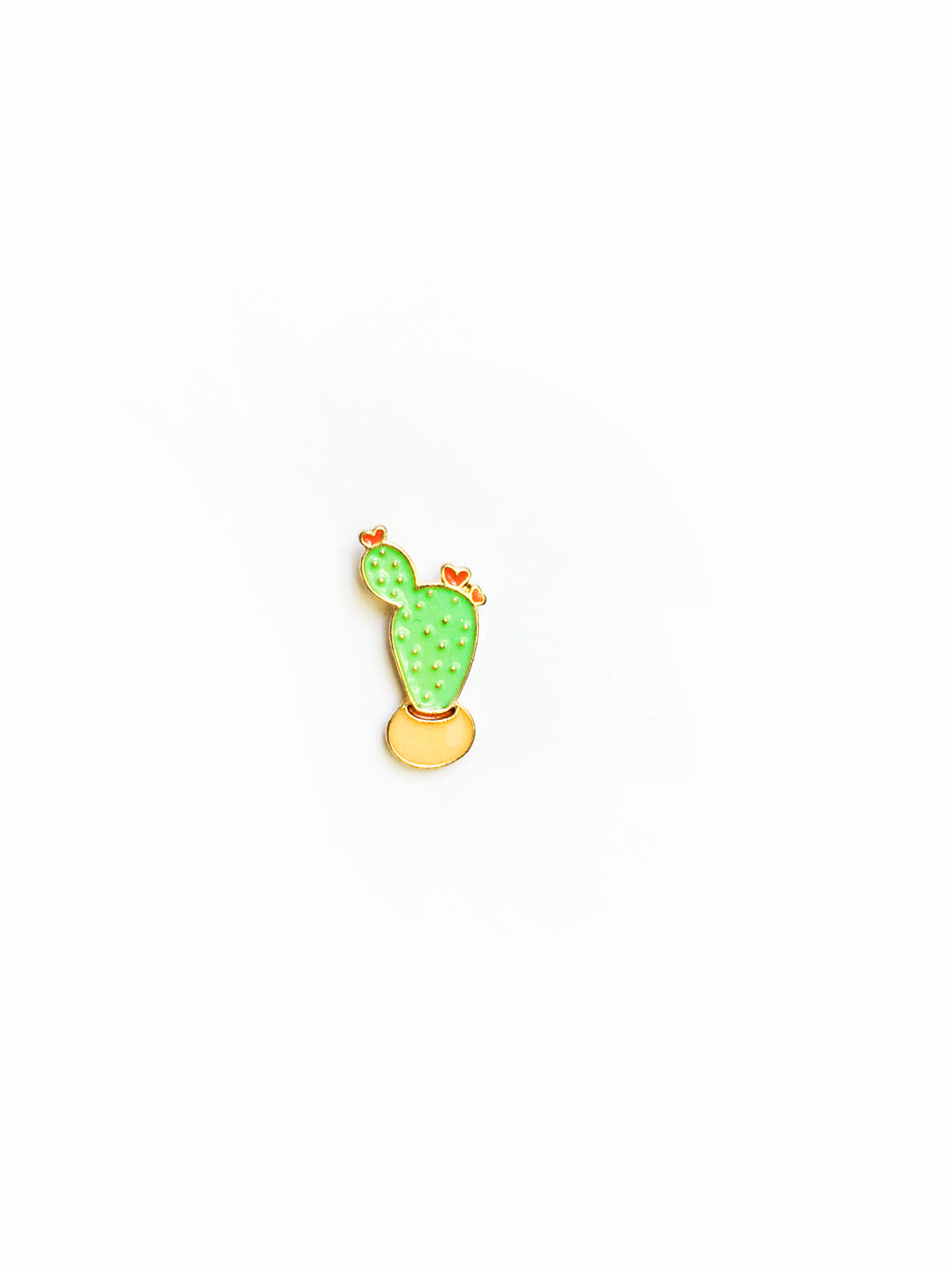 Yellow Potted Cactus Enamel Pin