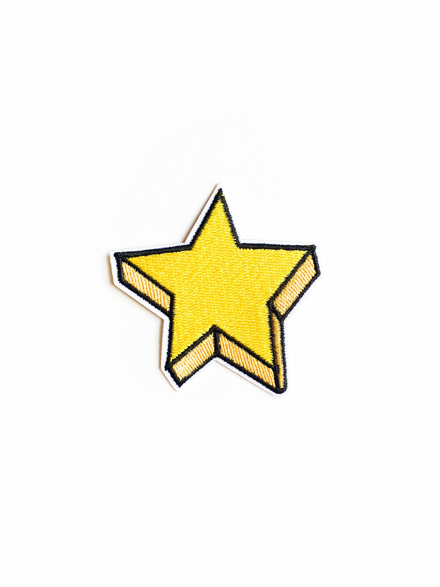 Yellow Star Iron on Patch