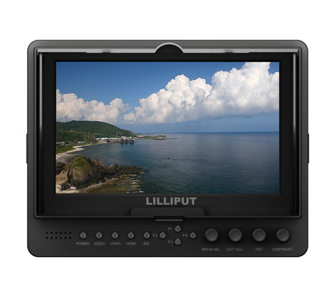 "Lilliput 665/S/P (SDI Input&Output , BlackMagic Compatible ) 7"" Camera-top Monitor"
