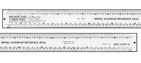 12 Inch Stainless Steel Model Railroader's Ruler (for HO, O, N, S Scale)