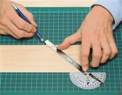 Stainless Steel Protractor, 8 Inch Blade