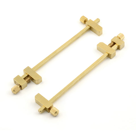 Solid Brass Miniature Bar Clamps, 3-3/4 Inches Long (Set of 2)