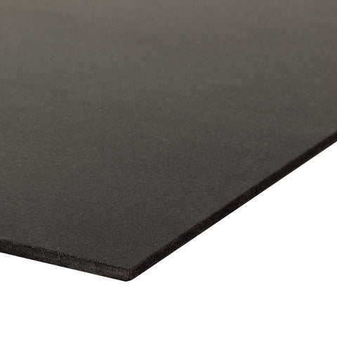 Curvable PVC Board, Black, 12 Inches X 18 Inches X 3mm (1/8 Inch) Thick