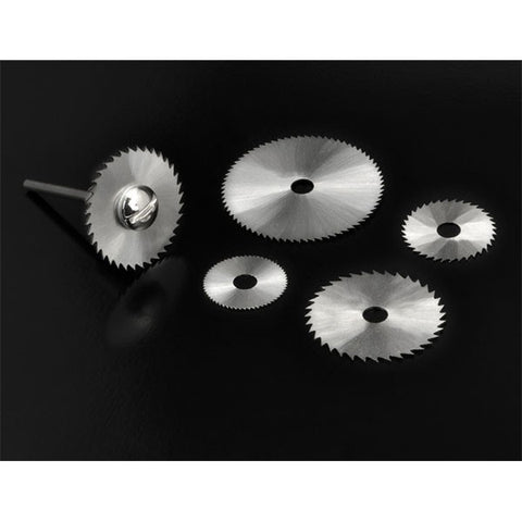 6-Piece High Speed Steel Saw Blade Set With Mandrel