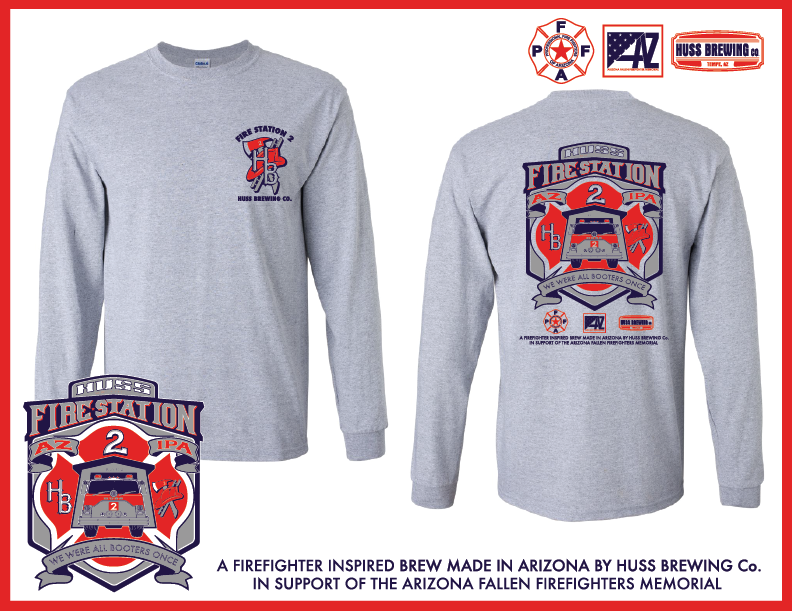 Fire Station 2 IPA Heather Long sleeve shirt