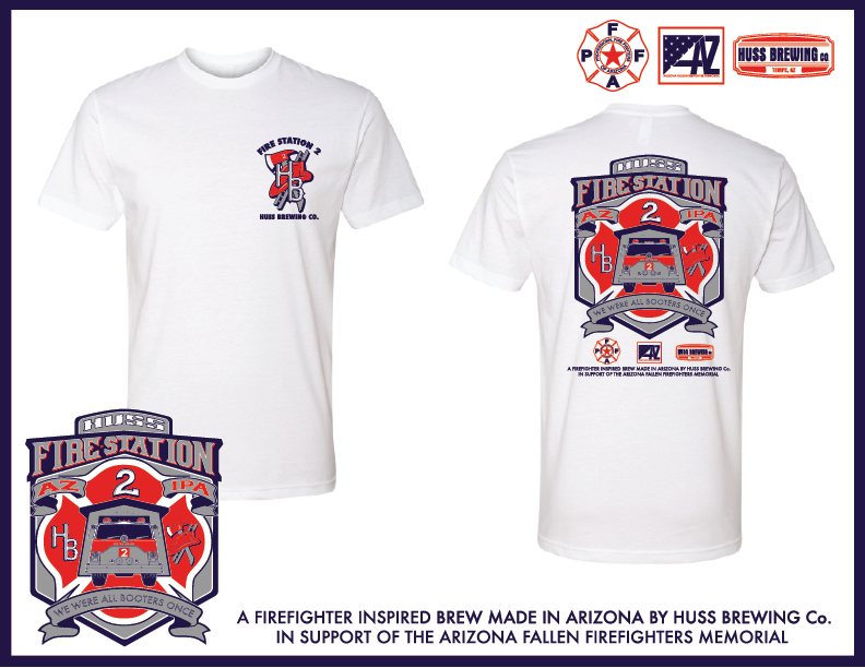 Fire Station 2 IPA White Tshirt