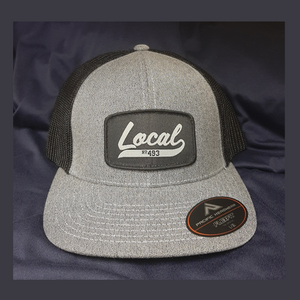 L493 Patch Hat - FITTED Heather Grey