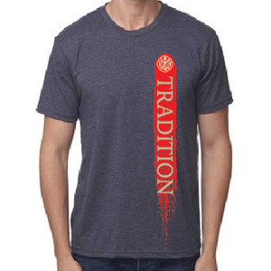 Tradition short sleeve in heather navy blue