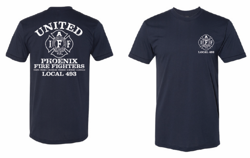 L493 Chapters Navy T shirt