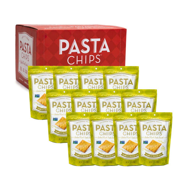 Garlic Olive Oil Pasta Chips 12-pack (5oz.)