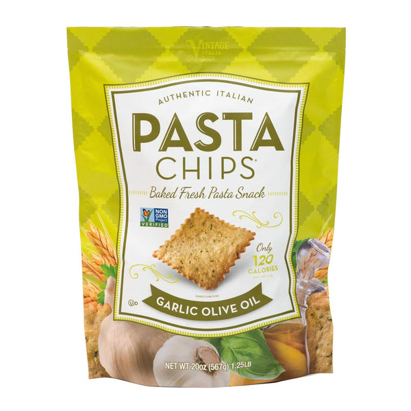 Club Size Garlic Olive Oil Pasta Chips
