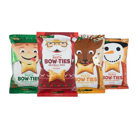 Pasta Bow Ties Ugly Sweater Holiday Party Sampler 4-pack (5oz.)