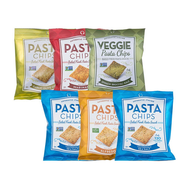 Pasta Chips Snack Size Variety 6-pack