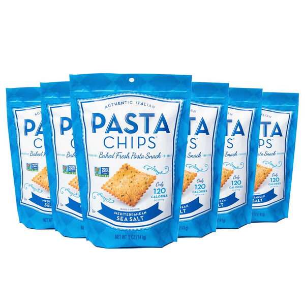 Mediterranean Sea Salt Pasta Chips 6-pack (5oz.)