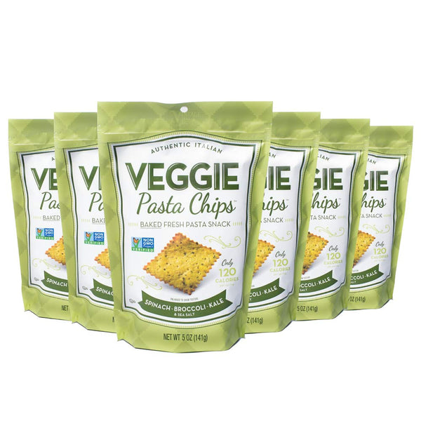 Spinach Broccoli Kale Veggie Pasta Chips 6-pack (5oz.)