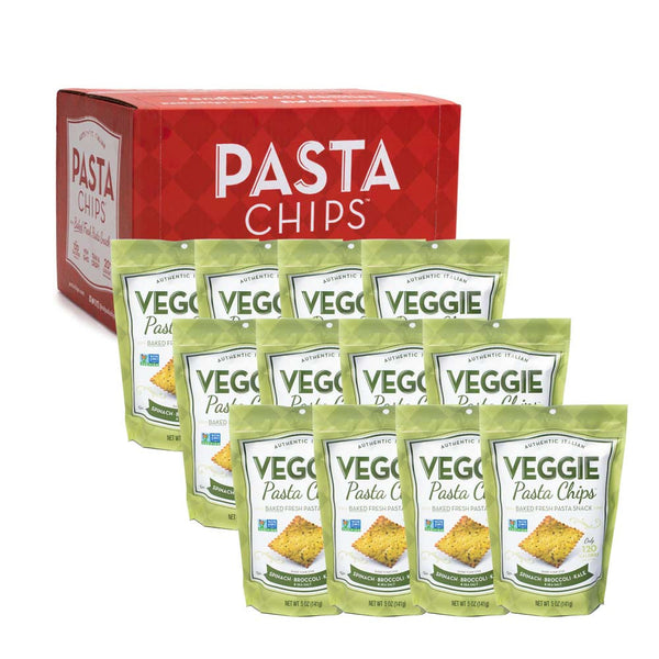 Spinach Broccoli Kale Veggie Pasta Chips 12-pack (5oz.)