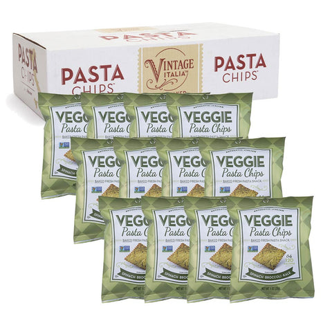 Spinach Broccoli Kale Veggie Pasta Chips Snack Size 12-pack